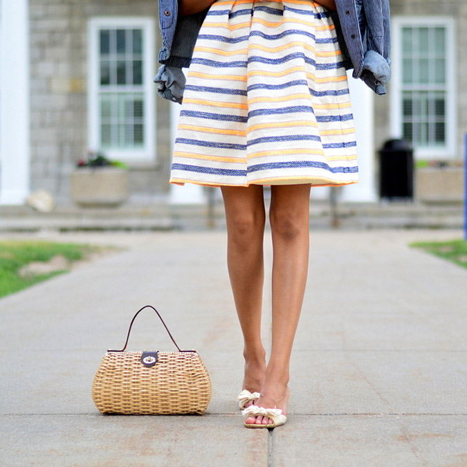 Feminine striped dress