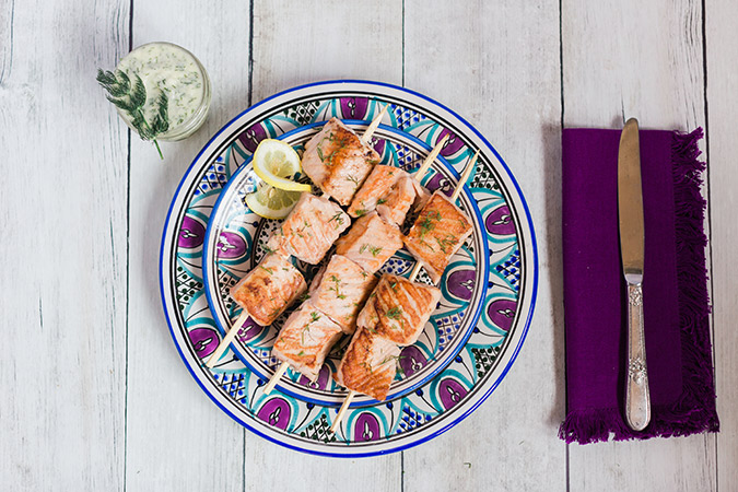 Salmon Kabob recipe on LaurenConrad.com