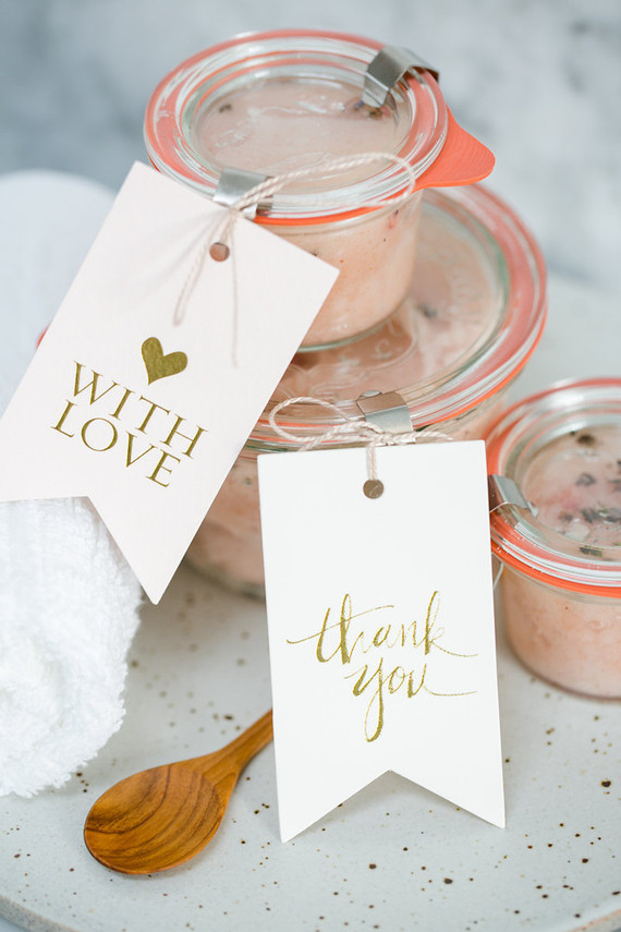 Get the DIY for this pretty coconut salt scrub on LaurenConrad.com