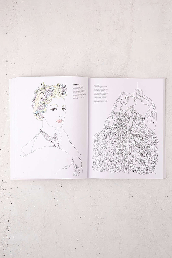 Vogue coloring book for all lovers of vintage fashion