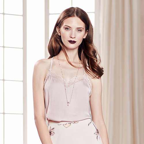 LC Runway Lace-Trim Cami