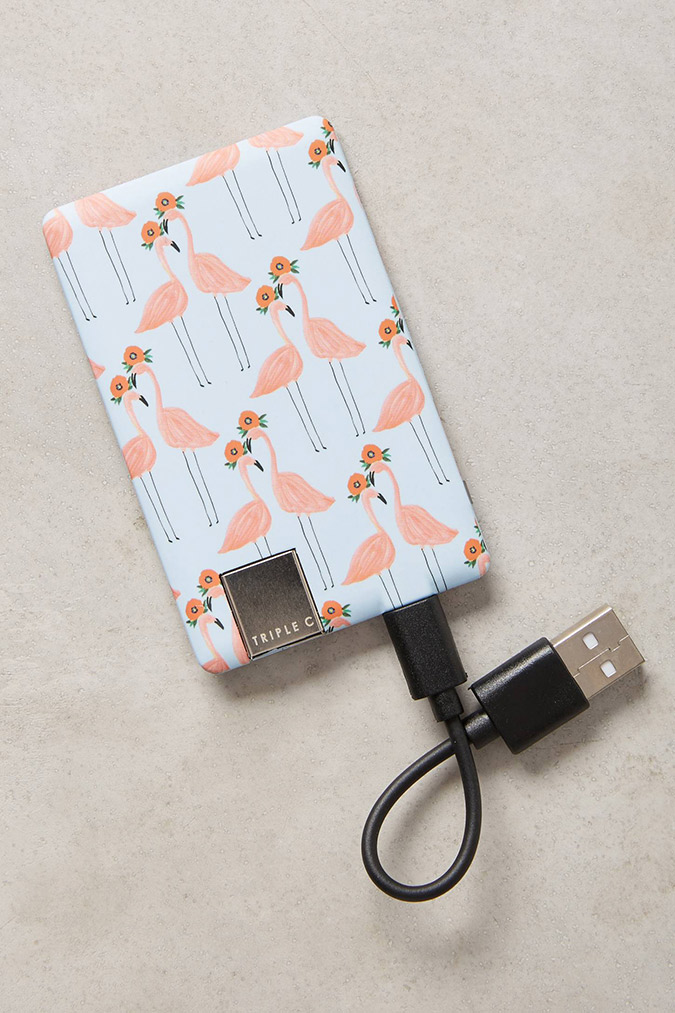 Anthropologie paired flamingos charger
