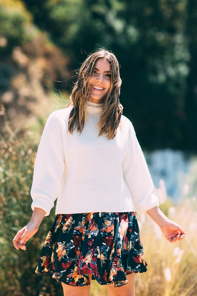We're loving this week's Chic's flowy skirt and sweater combo