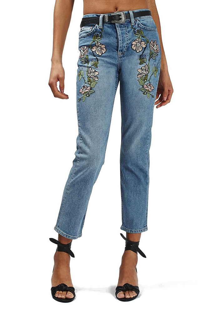Fall Denim: embroidered jeans