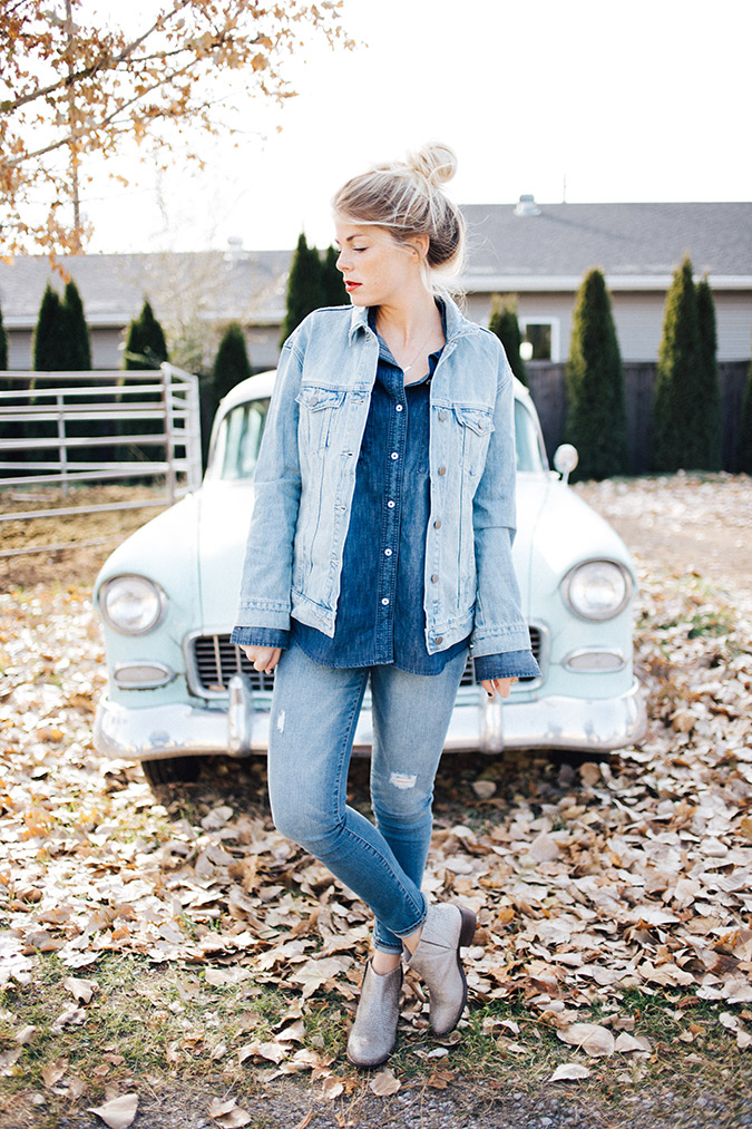 We're copying this all-denim look ASAP