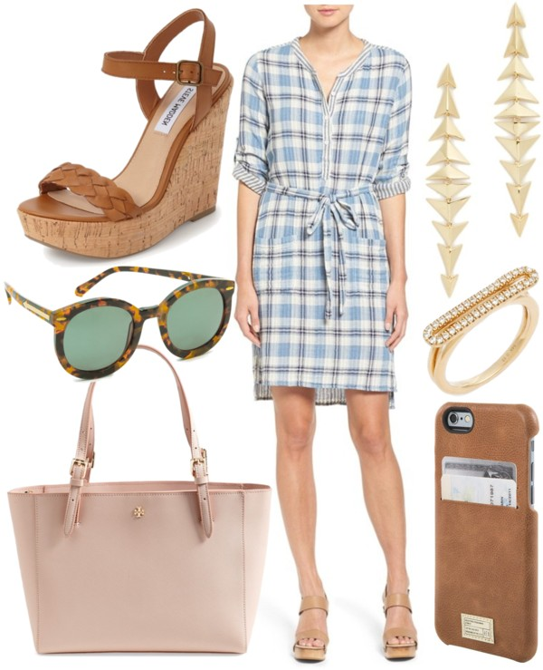 Plaid dress for warm weather style