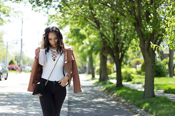 Lace It Up: criss cross laced top