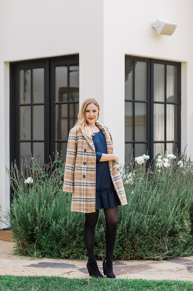 How to style a drop waist dress for chilly weather