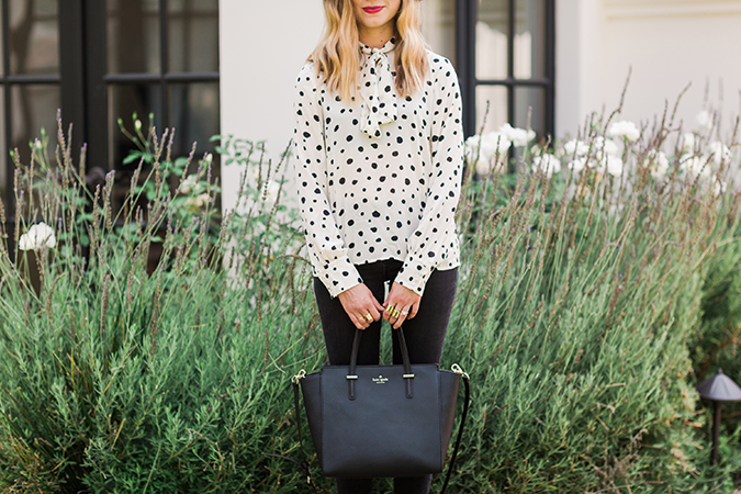 See how one of our editors styled this pretty dotted blouse, three ways