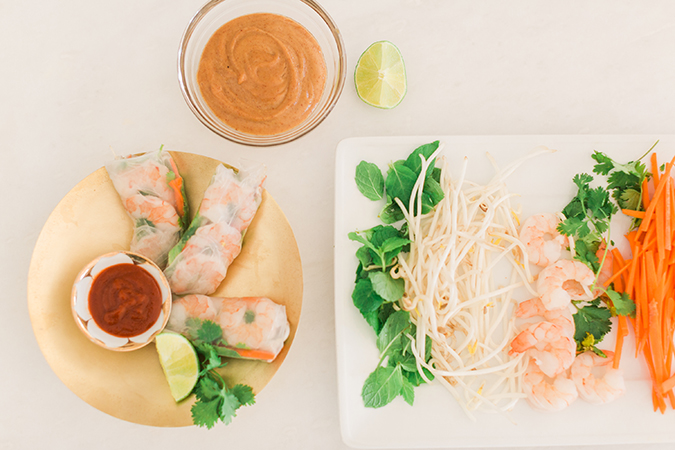 Get the recipe for these gorgeous and delicious Vietnamese spring rolls