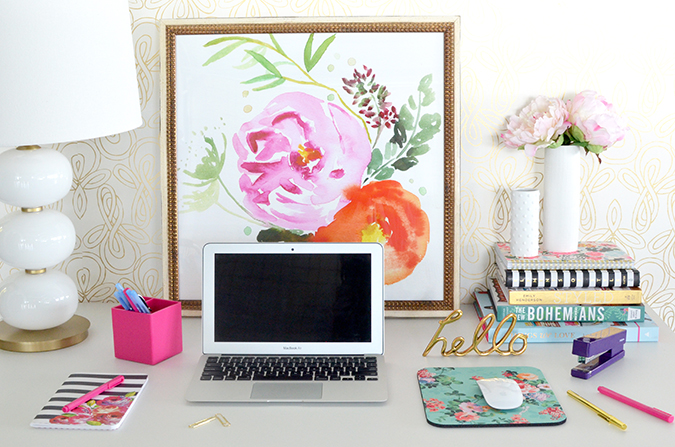 How to create a beautifully inspiring work space