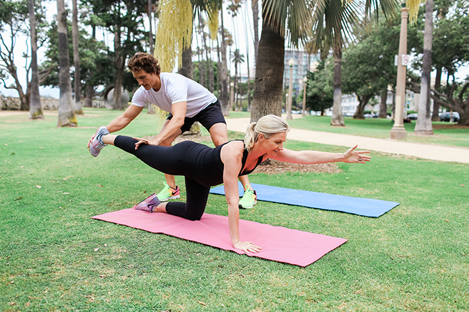 Fit Pregnancy Workout: Elbow to Knee Planks