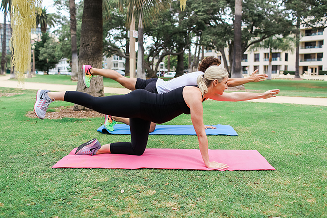 Pregnancy Workout: Elbow to Knee Plank Holds