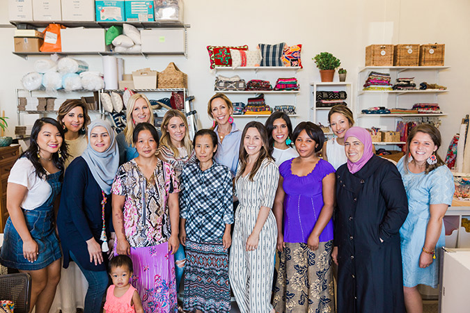 See Lauren Conrad's trip to Dallas last month with The Little Market