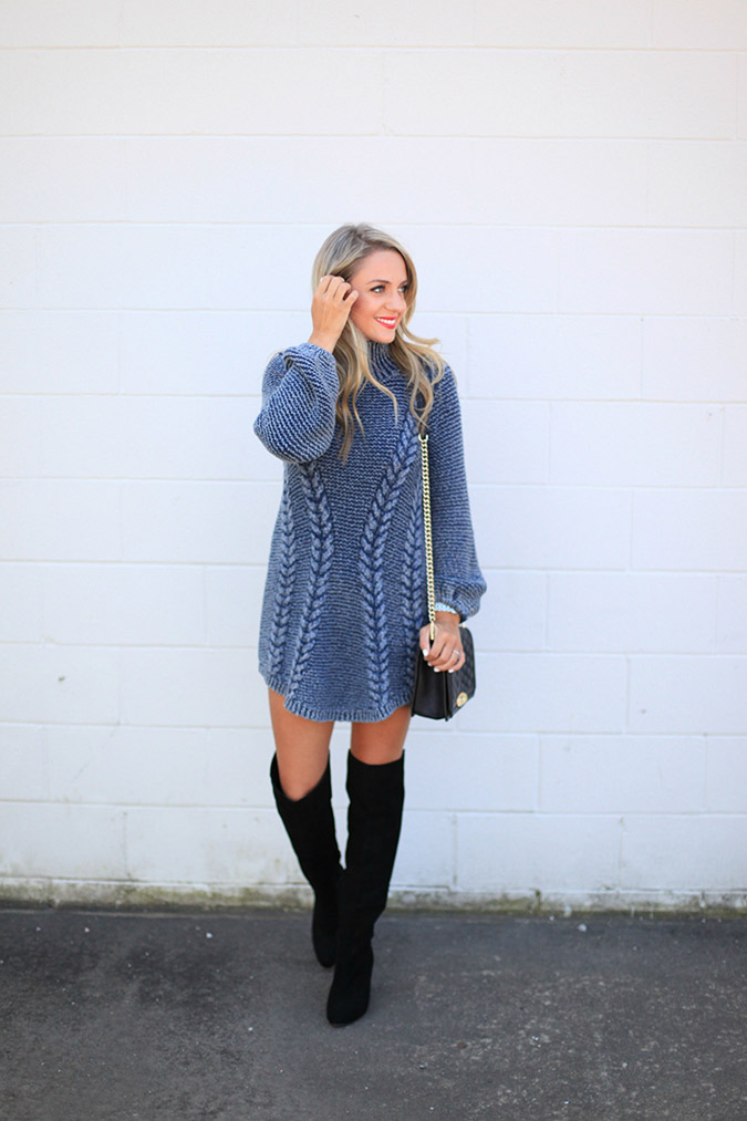 Sweater dress weather via Miss Bethany Kate.
