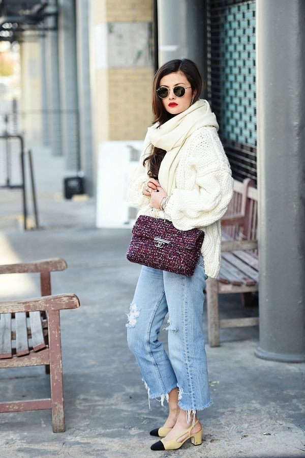 All knit up via Peony Lim.