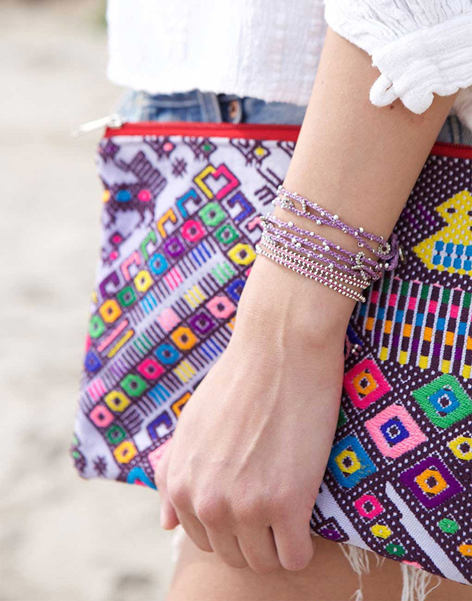 The Little Market bracelets and bag