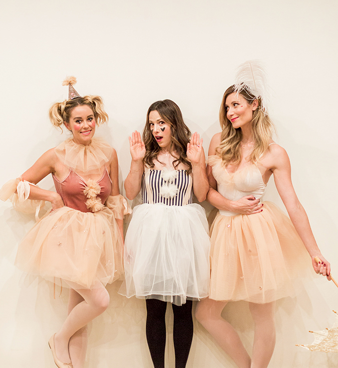 feminine circus performer costumes for Halloween via Lauren Conrad