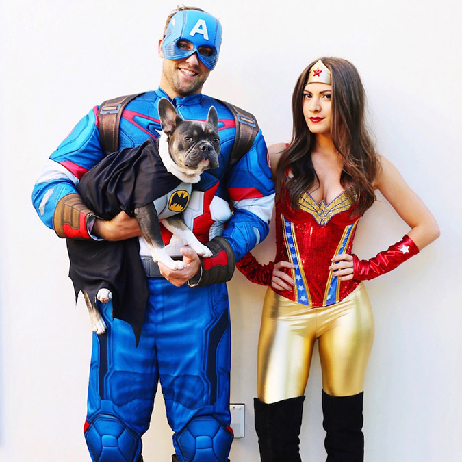 Wonder Woman u0026 Captain America couples costume  sc 1 st  Lauren Conrad & Tuesday Ten: Couples Halloween Costumes - Lauren Conrad