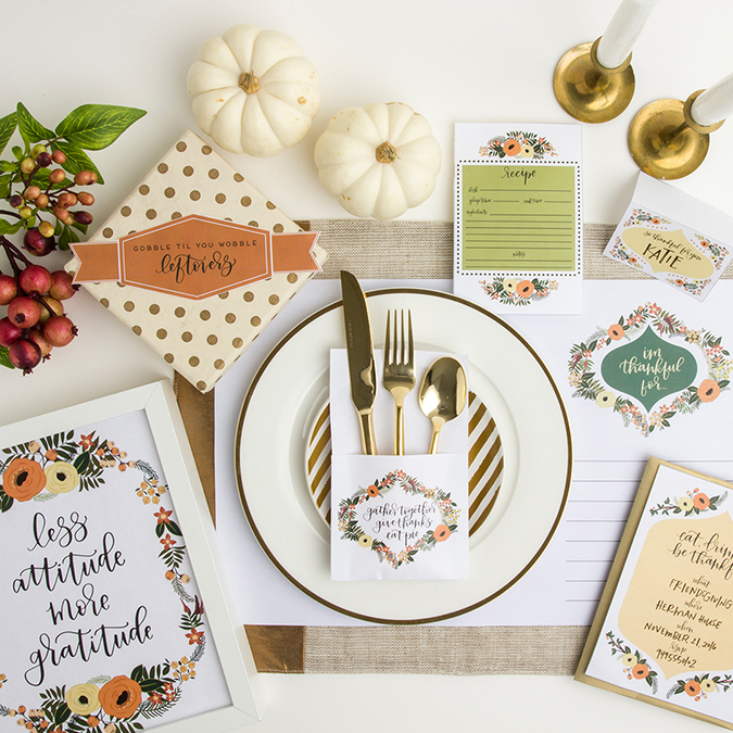 Thanksgiving place card printables by PoppyJackShop