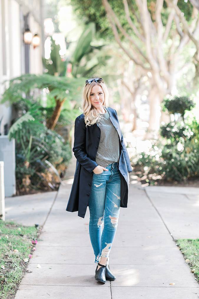 The Paper Crown Paris Coat styled 3 ways, by Lauren Conrad