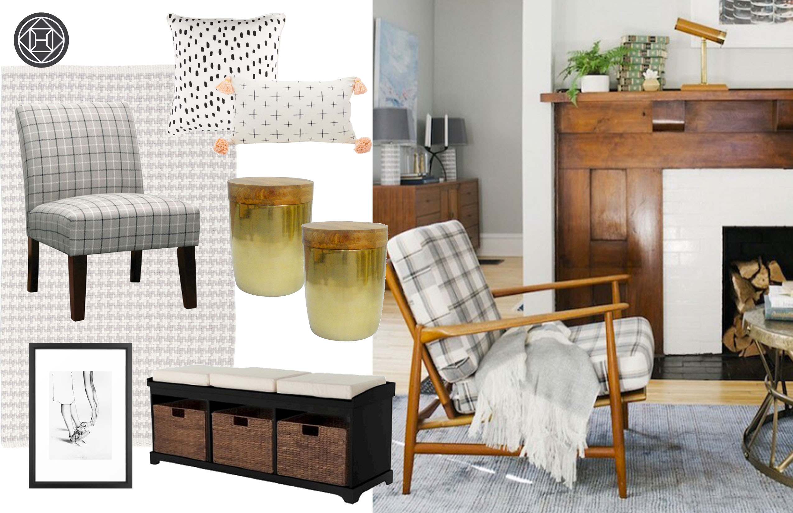 One of three design ideas for our editor's living room from Havenly