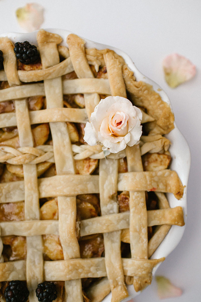 nothing adorns a pie better than a little bloom