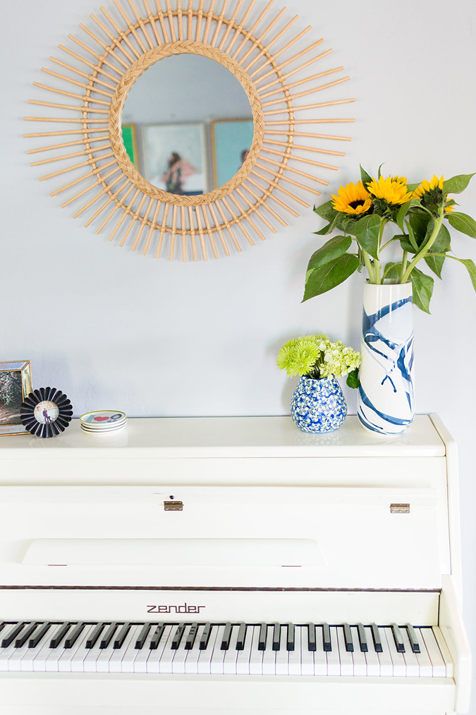 Our editor's sweet and clean living room makeover