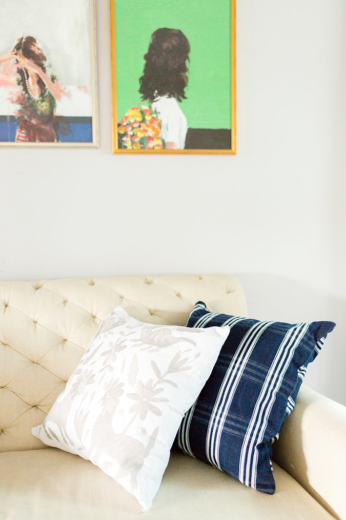 See our editor's sweet and simple living room makeover