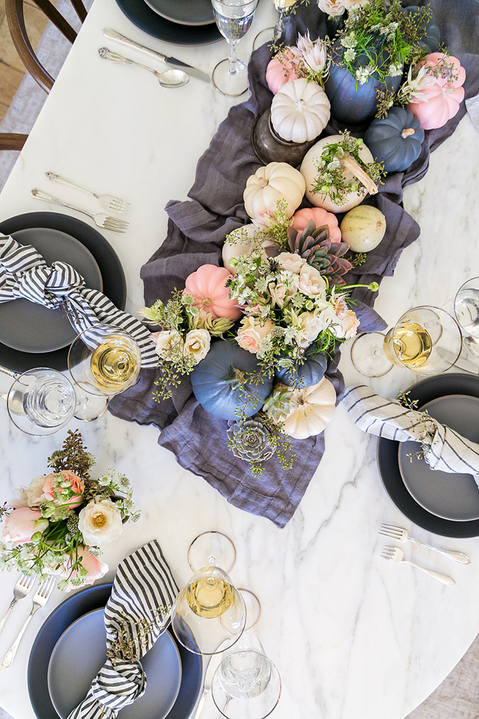 the prettiest pastel Thanksgiving thanks to Kate Martindale
