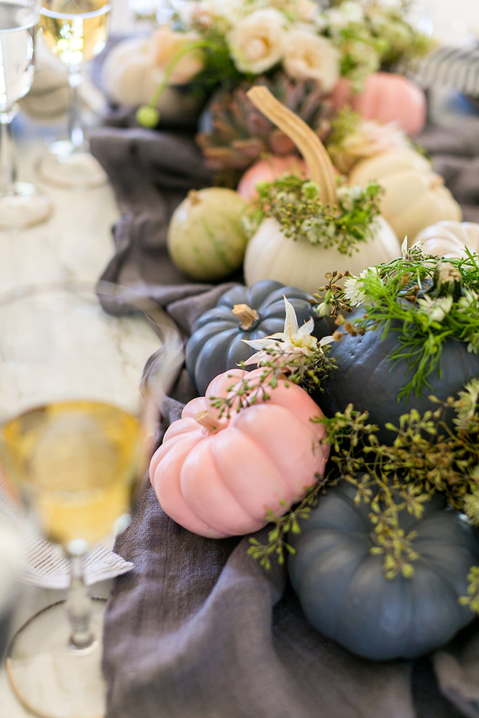 pretty pastel pumpkins for Thanksgiving