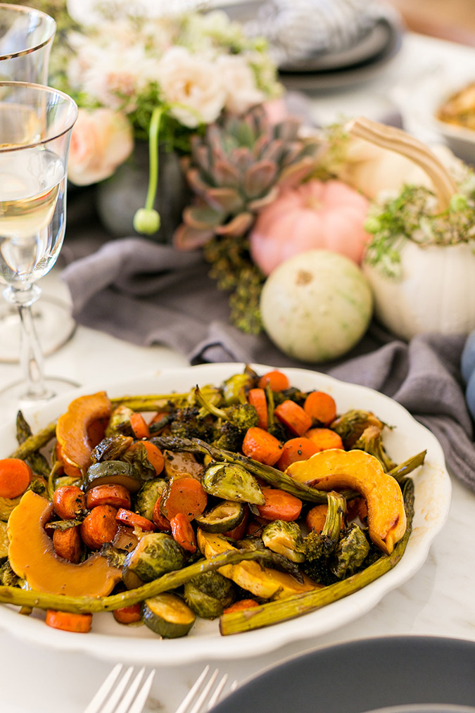 Honey glazed roasted veggies recipe