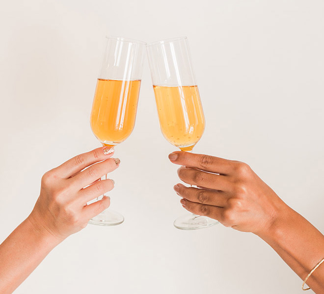 Lovely Libations: Apple Cider Mimosas
