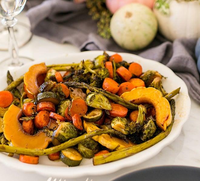 Holiday Special: Easy Honey Glazed Roasted Veggies