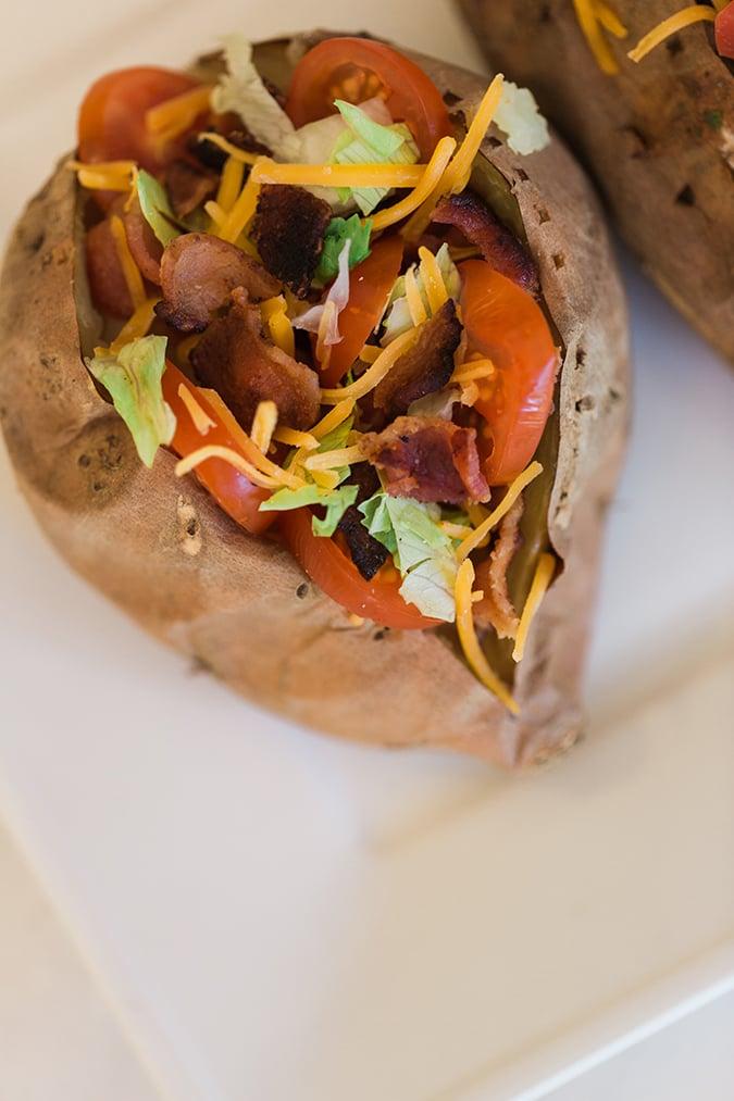 BLT Stuffed Sweet Potato Recipe