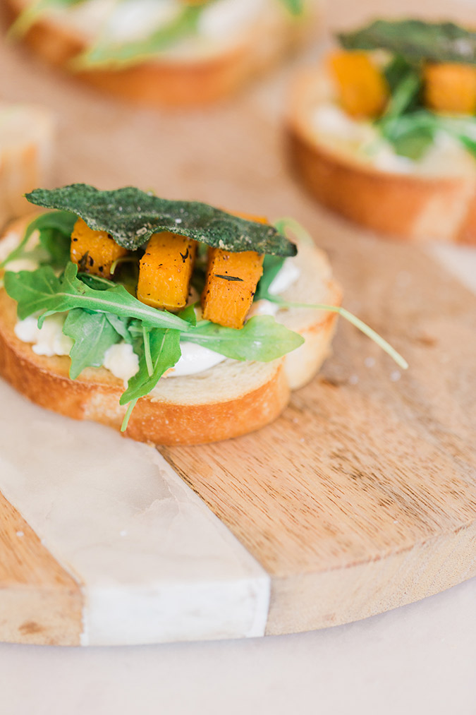 Savory and light fall crostini
