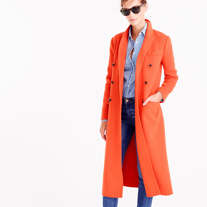 Wool-cashmere duster coat