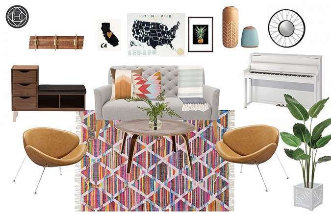 Havenly's design renderings of our editor's living room makeover