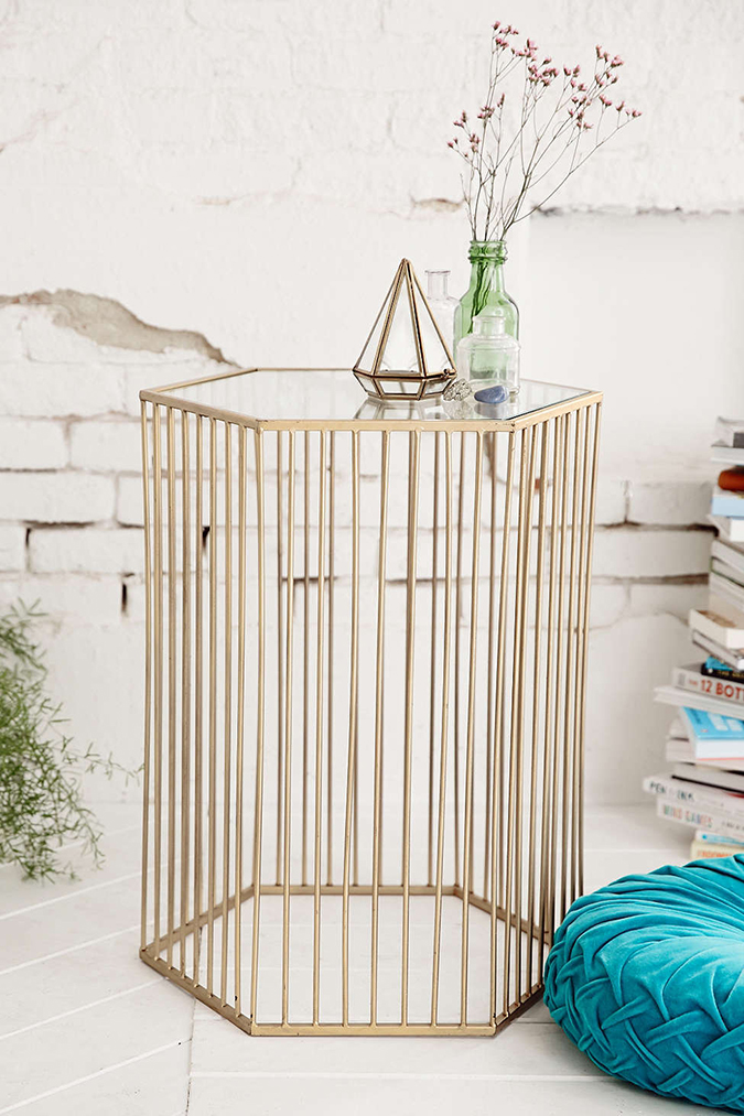 Mirrored top side table from Urban Outfitters