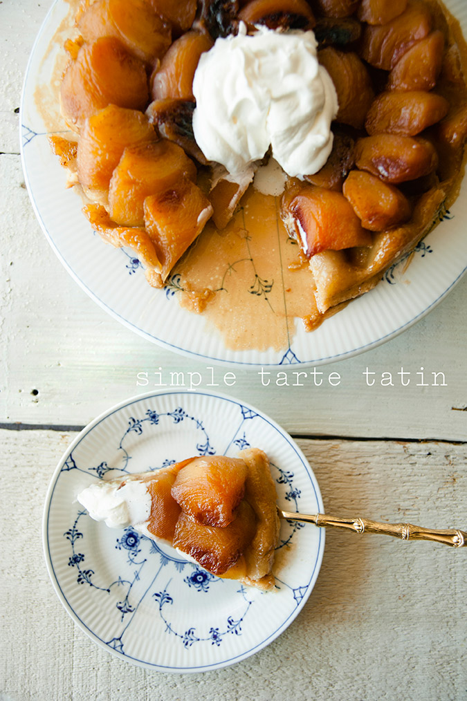 Simple tarte tatin recipe via Claire Thomas