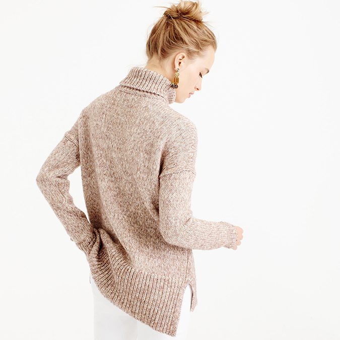Neutral cozy turtleneck sweater