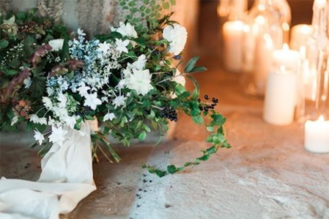 A candlelit wedding via The Wedding Lady