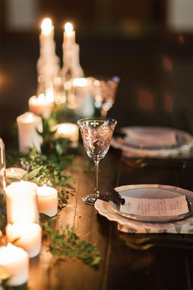 Warmest winter wedding details
