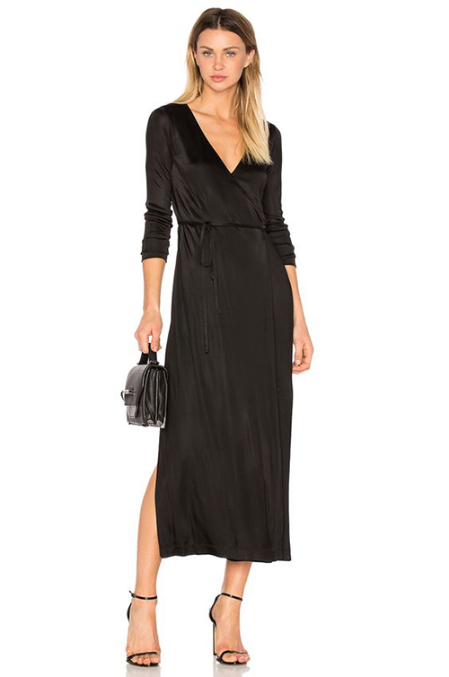 T by Alexander Wang Long Sleeve Wrap Dress