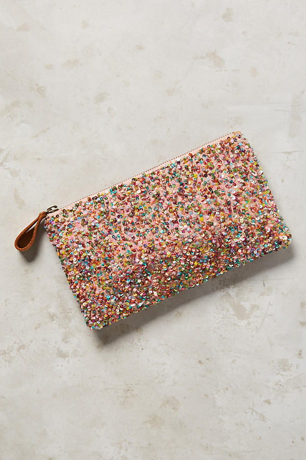 Sequin Anthro Clutch