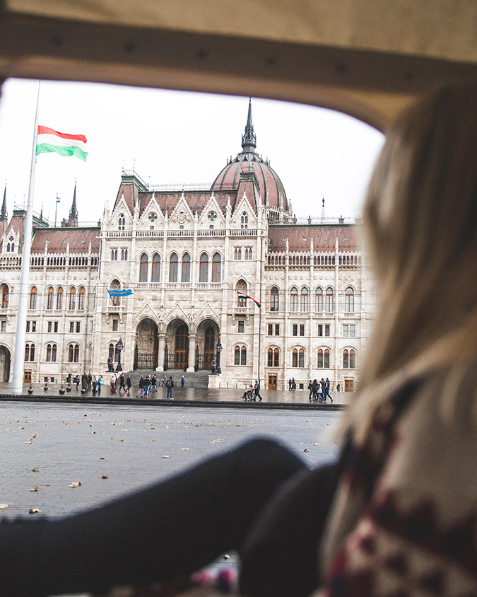 Parliament building, Budapest - Serena's travels wearing Paper Crown