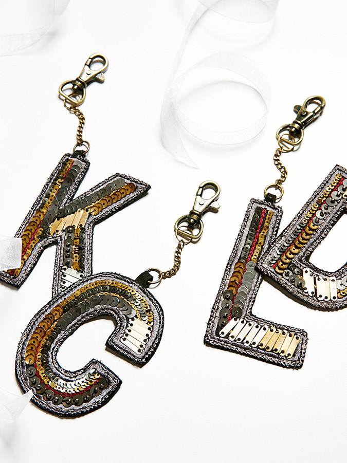 Free People Sequin Letter Bag Charm