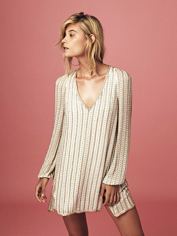 Free People Sequin Swing Dress