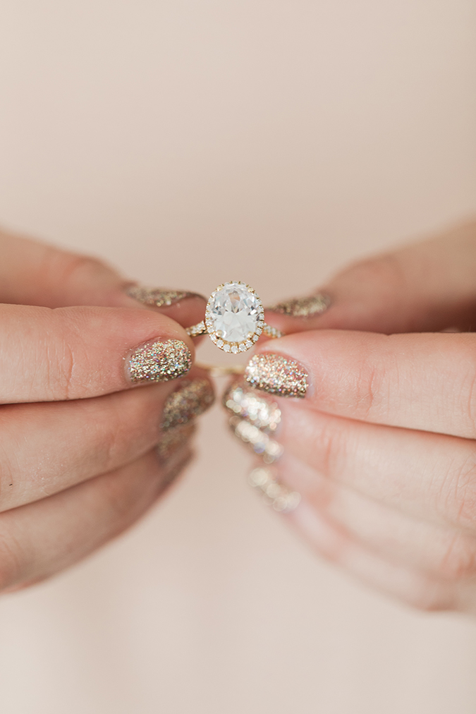 Our fave engagement rings + the perfect manis to wear with them