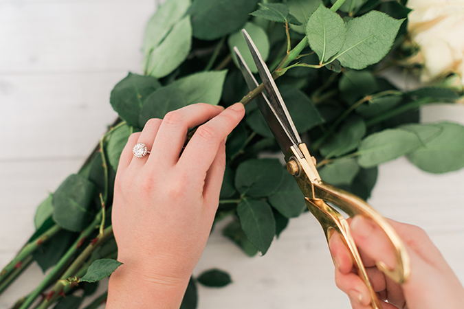 The prettiest engagement rings and their manicures to match